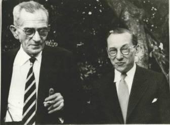 Graciliano e o pintor Cândido Portinari, em 1952
