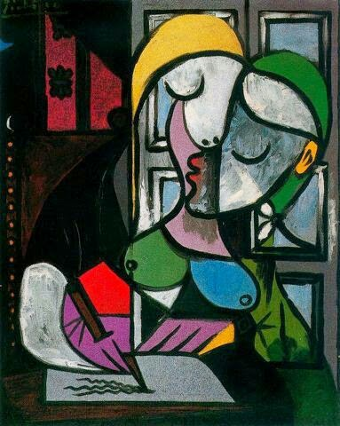 picasso woman writing