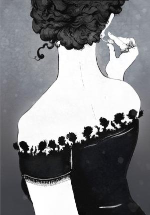 Ilustração ana karenina