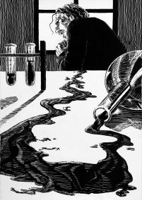 Ilustração o medico e o monstro
