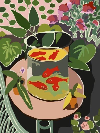 Peixes Vermelhos - Matisse